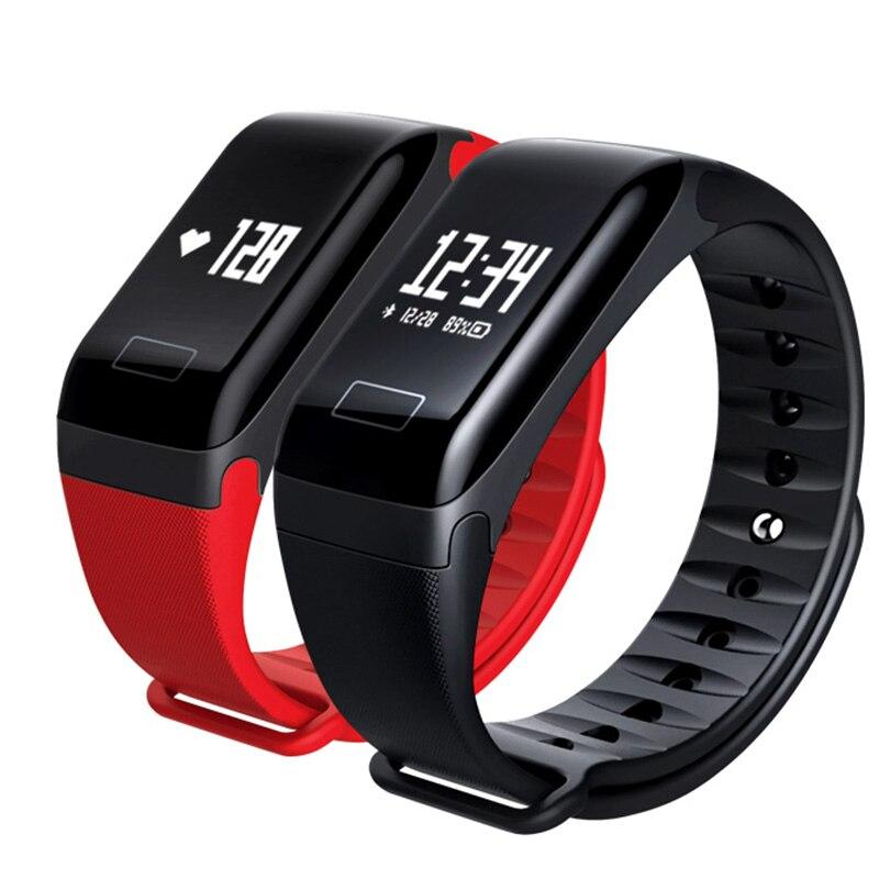 Montre Smart Watch F1 en Oxygène du Sang Sang Pression Bande de Remise En Forme Sport Bracelet Moniteur de Fréquence Cardiaque Appel/SMS Rappel pk fitbits miband2