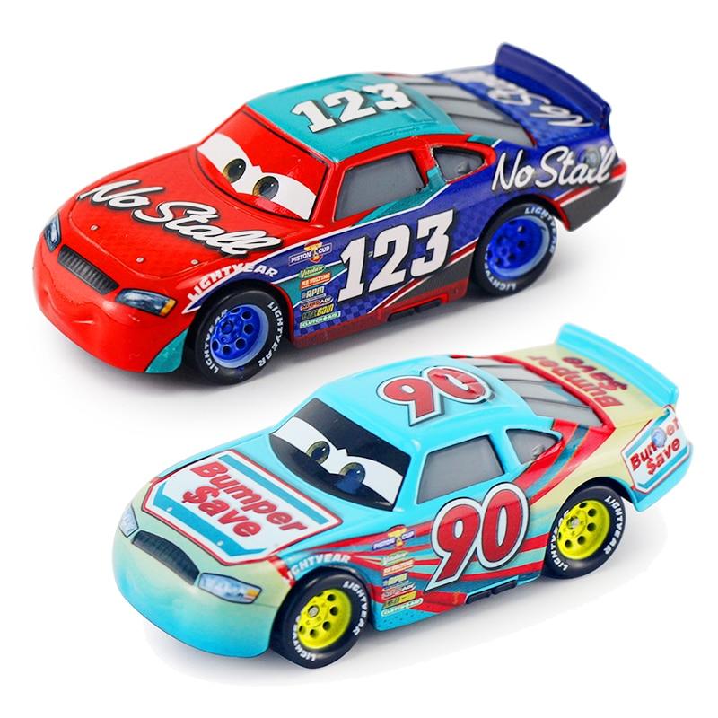 Disney Pixar Cars 3 Nostaee Lightning McQueen Jackson Storm Bumper Save Diecast Metal Model Car Birthday Gift Toys For Kids Boy