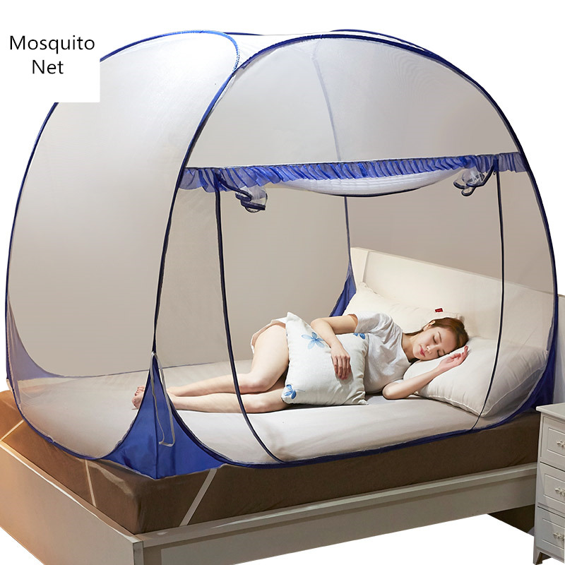 Single door Mosquito Net For Adults Yurt Bed Canopy Mesh Students Bunk Bed Netting Lace Dome