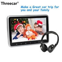 10,1 1024*600 подголовник автомобиля с монитором DVD видео плеер портативный монитор телевизора в автомобиль USB/SD/HDMI/IR/FM TFT lcd Сенсорная Кнопка игры