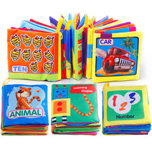 Baby Cloth Book Rattle Toy on Cot Education Mobile Stroller Quiet Book Bulk Price for Newborn 0-12 Weep Child Toddler Toy Bed(China)