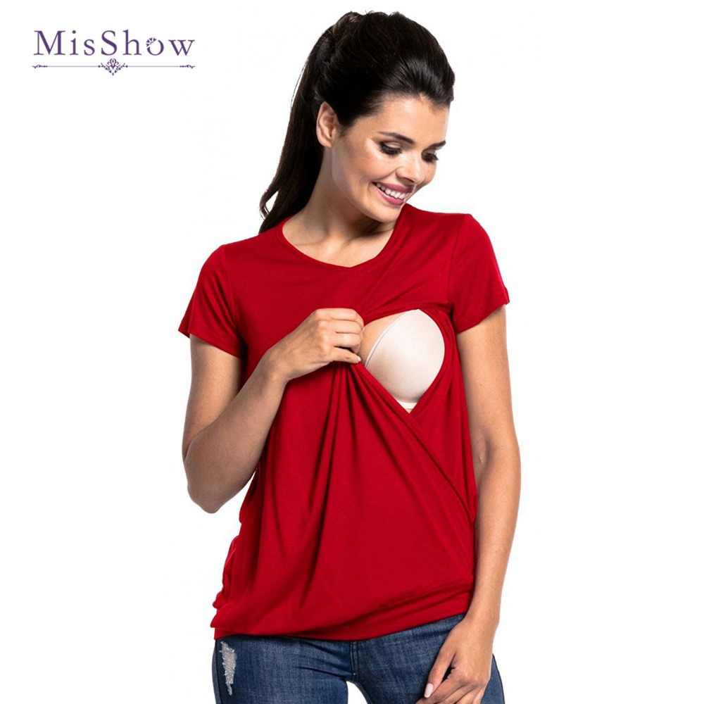 a2e0582d9fa Newly Plus Size Pregnant Clothes Summer Breastfeeding Tees Maternity Women  T-shirt Nursing Tops Maternity