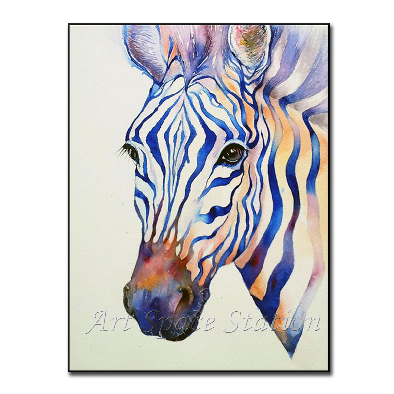 Frameless pictures black and white zebra watercolor paintings abstract african animals poster print on canvas wall home decor in painting calligraphy from