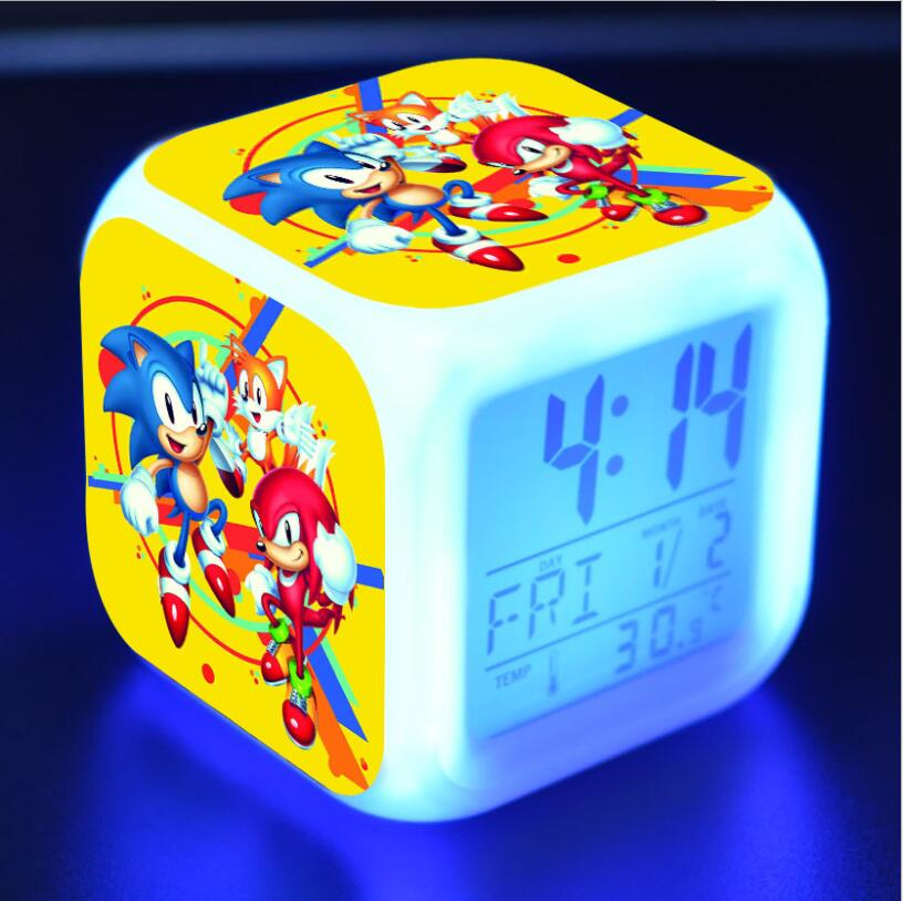 Sonic The Hedgehog LED Cube Alarm Clock 17