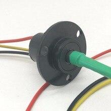 SRC0320 3 przewody 20A Dia 22mm 500RPM złącze pierścienia ślizgowego mocy wiatru
