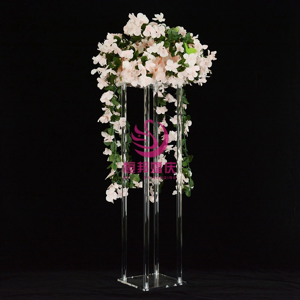 10PCS 100cm High Acrylic Crystal Wedding Centerpiece