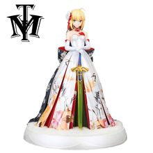 Anime cartoon Fate/stay night Saber PVC 25 cm Action Figure ACGN Kimono Meisje Model speelgoed voor kinderen Kerst gift juguetes(China)