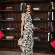 Rompers Womens Jumpsuit Trousers Female Leopard Romper Women Elegant Long Jumpsuits For 2019