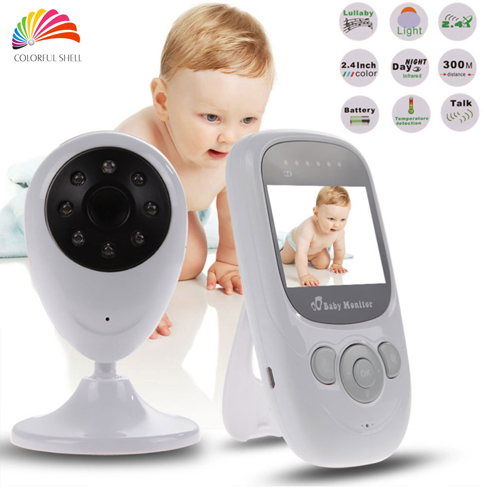 wireless video baby monitor security baby camera 2 4ghz digital lcd 2 0 inch. Black Bedroom Furniture Sets. Home Design Ideas