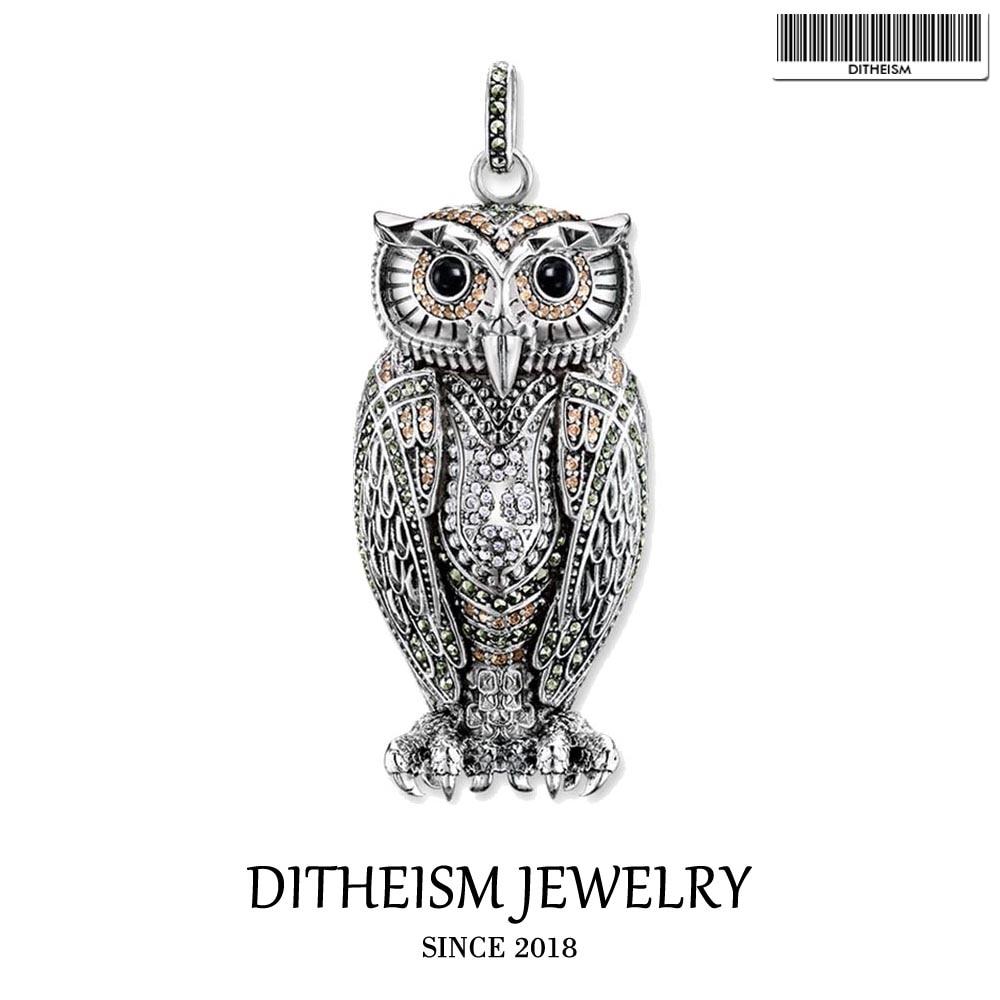 В Queen ночи Сова Подвеска, 2018 Новый Модные украшения 925 серебро Мода подарок для Для женщин девушки подходят Цепочки и ожерелья ...