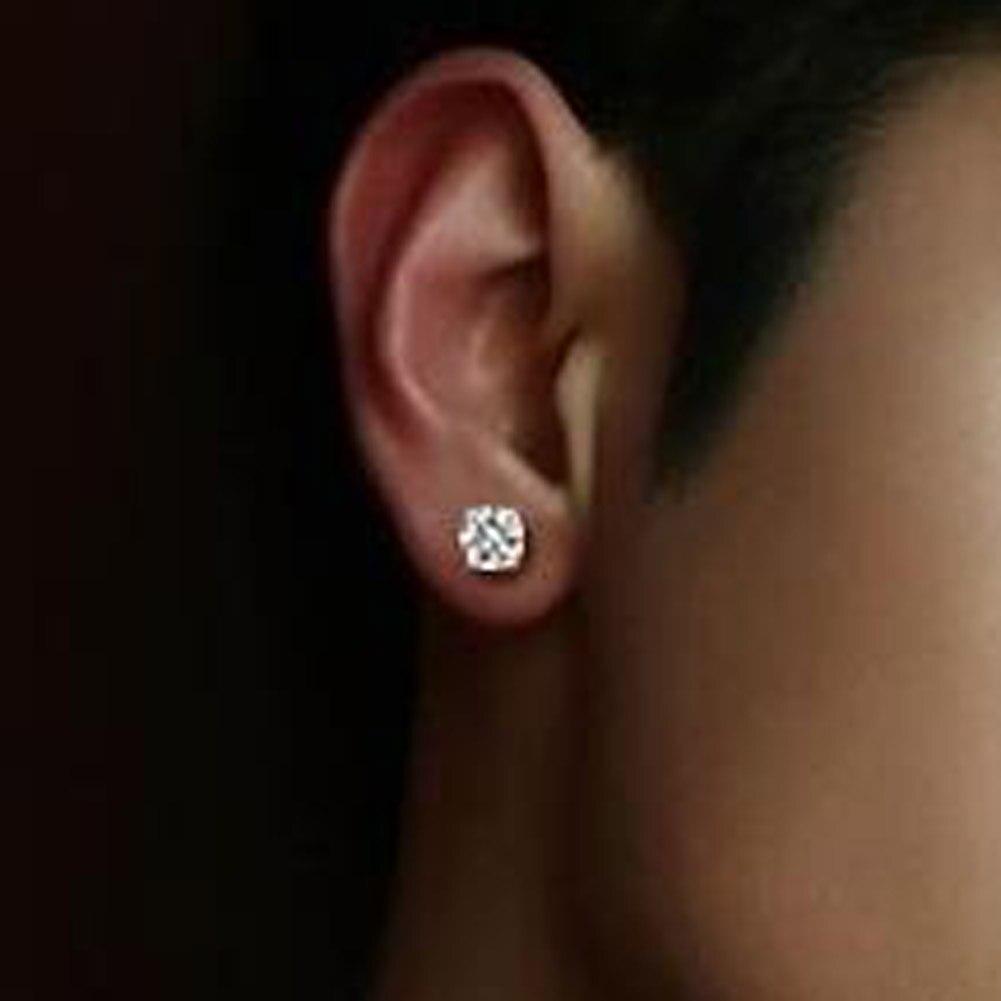 New Round Earrings For Women Men Punk Ear Cuff Earrings Crystal Zircon Magnetic Magnet Clip