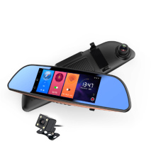 7.0 Inch Android GPS Car Dvr WIFI Bluetooth HD Video Recorder Auto Rear View Mirror Radar Detector Dashcam Dual Car Camera