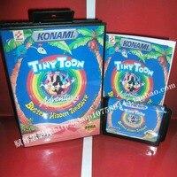 Sega MD Game Tiny Toon With Box And Manual For 16 Bit Sega MD Game Cartridge
