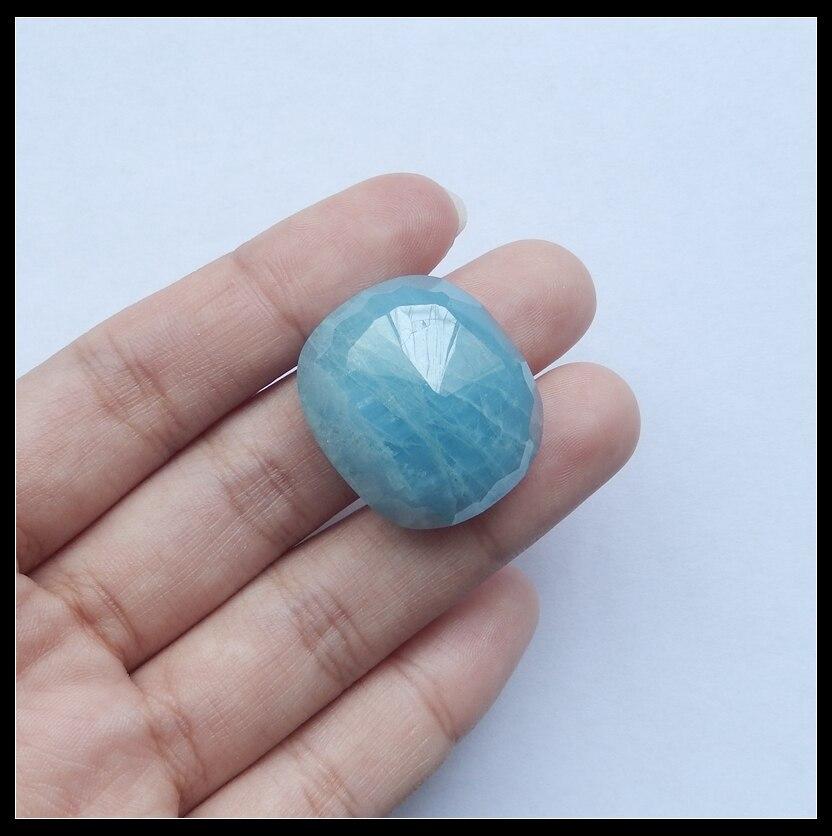 Hot Sale AAA Blue Aquamarine Cabochon 24x21x9mm 10.94g semiprecious stone Beauty Jewelry Best Birthday Gift Accessories