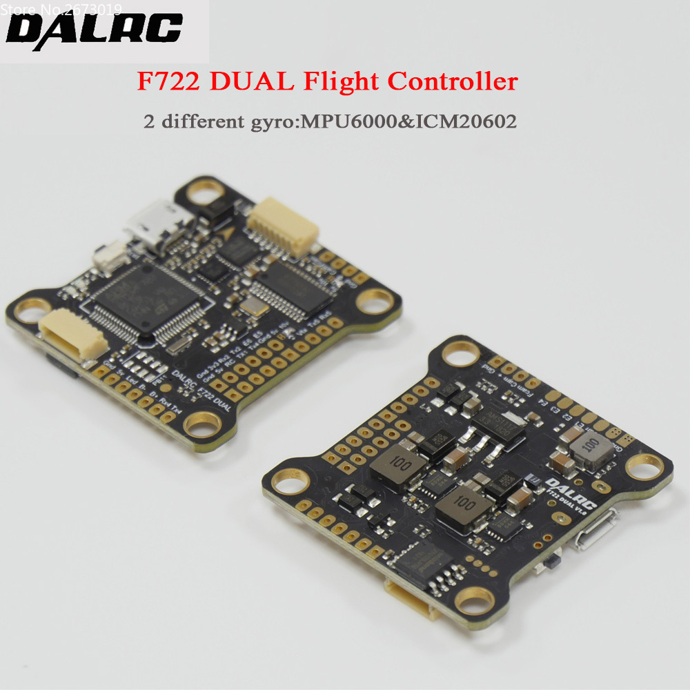 DALRC F722 DUAL STM32F722RGT6 Flight Controller Built-in OSD BEC 5V 12A F7 Flight Control MCU6000&ICM20602 for DIY Drone f722 f7 v1 upgrade version f4 flight control with osd barometer