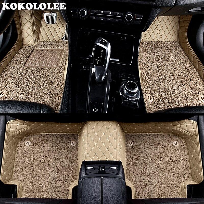 KOKOLOLEE на заказ автомобильные коврики для Ford все модели focus 2 3 kuga ecosport explorer mondeo fiesta mustang автомобильные аксессуары