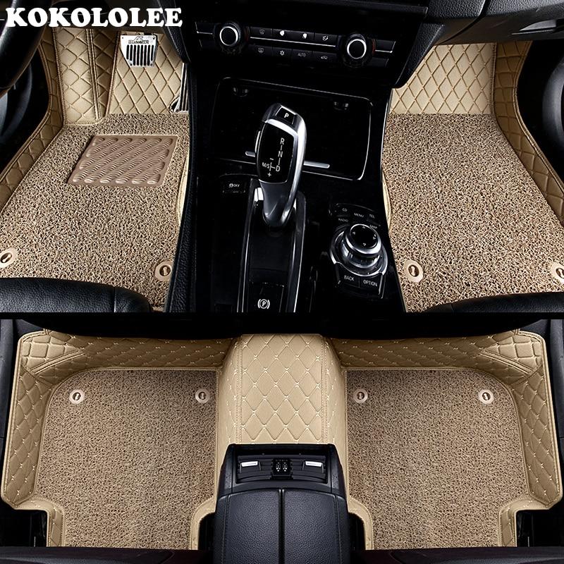 KOKOLOLEE alfombras personalizadas de coche para todos los modelos de Ford focus 2 3 kuga ecosport explorador mondeo fiesta mustang coche accesorios