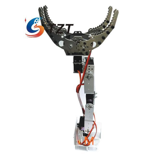 6 DOF Robot Brazo Mecánico Montaje de Abrazadera Garra de Metal para Arduino DIY Sin Montar CL-6