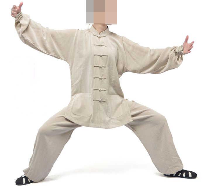 17色ユニセックスリネン太極拳カンフー服セット詠春スーツ武武道制服高品質