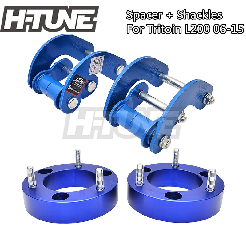 H-TUNE 4x4 Accesorios 25mm Front Spacer And Rear Shackles Lift Up Kits 4WD For Triton L200 MK ML 2006-2014