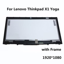New 14″ LCD LED Touch Screen Digitizer Assembly + Frame For Lenovo Thinkpad X1 Yoga B140HAN01.8 LP140WF6(SP)(G1) 1920*1080 30PIN