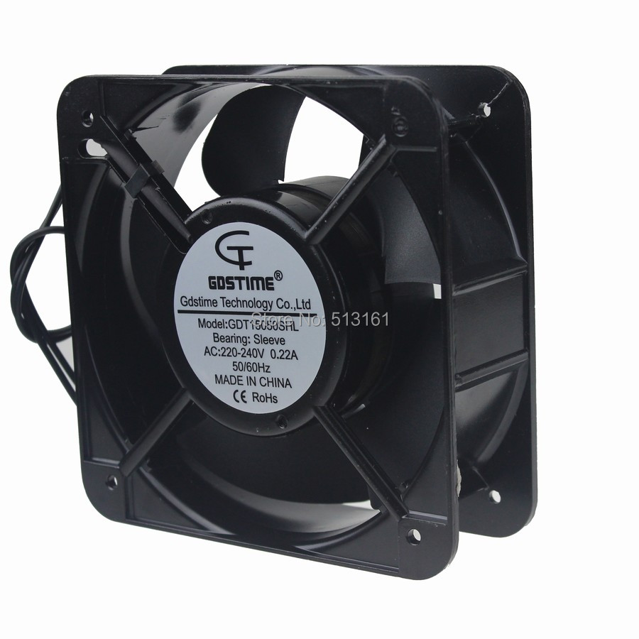 Gdstime 150*150*50mm Industrial Cooling Fan AC 220V 240V 150mm 15cm 15050 f2e 150b 230 axial cooling fan ac 220v 240v 0 22a 38w 2600rpm 17250 17cm 172 150 50mm 2 wires 50 60hz