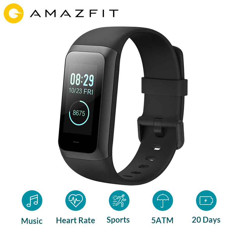 Xiaomi Amazfit CO 2 Smart Band2 pulsera Monitor de ritmo cardíaco impermeable 1,23 pulgadas Color IPS pantalla inteligente pulsera Android-in Pulseras inteligentes from Productos electrónicos on AliExpress - 11.11_Double 11_Singles' Day 1