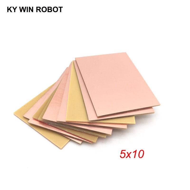 10pcs PF PCB Single Side Copper Clad Plate DIY PCB Kit Laminate Circuit Board 5x10cm