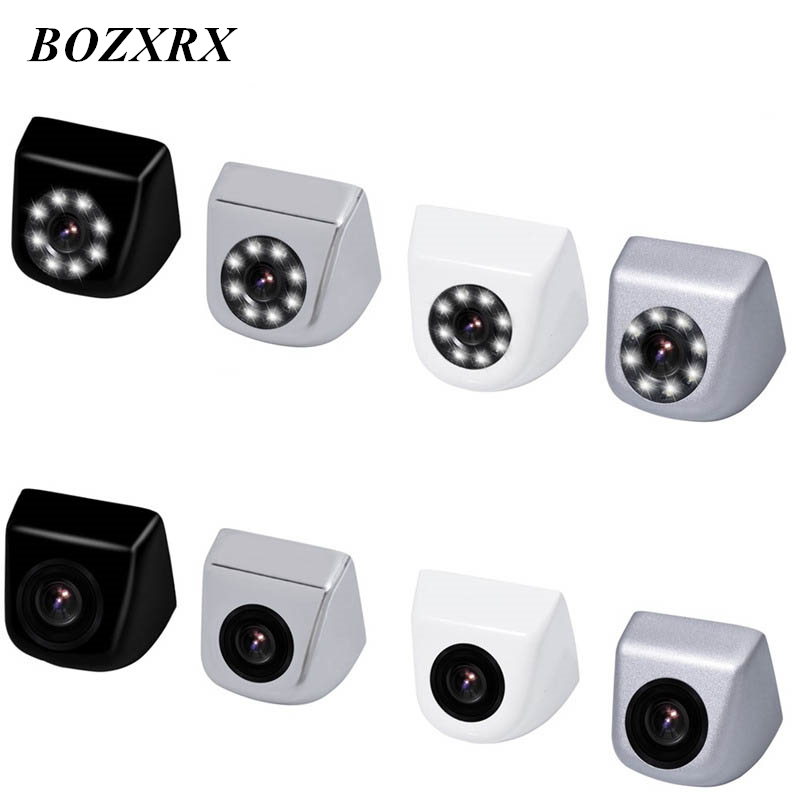 BOZXRX Car Backup Camera with 8LEDs Lights Night Vision IP69 Waterproof Car Parking Assistance CCD Rear View / Front View Camera