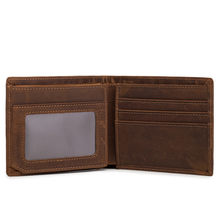Neweekend Hot Sale Crazy Horse Leather Vintage Retro Wallets Man Men Short Genuine Leather Card Holder Wallet Purse Male 6003(China)