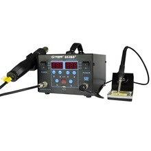 YAOGONG New 862d 2 In 1 Hot Air SMD digital variable Soldering Rework Station kit for phone computer pcb repair