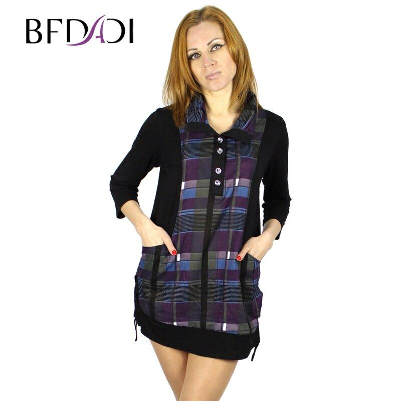 Bfdadi plus size xl 5xl women clothing 2016 new three for Girls shirts size 8
