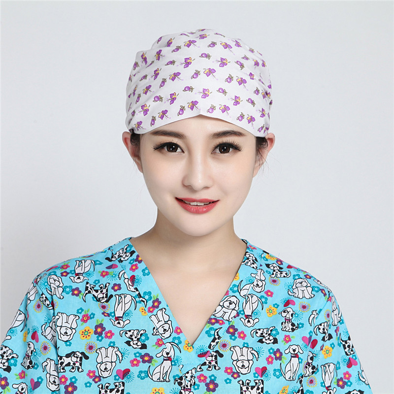 Women Surgical Scrub Cap Adjustable Floral Print Medical Caps Hospital Scrub  Lab Clinic Dental Operation Hat Doctor Nurse Cap 199619c2420
