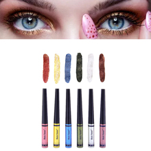 Hot Sale 6 Colors Eyeliner Combination Prefessional Liquid Waterproof EyeShadow Pencil for Sexy Girls Portable Size Makeup Tool