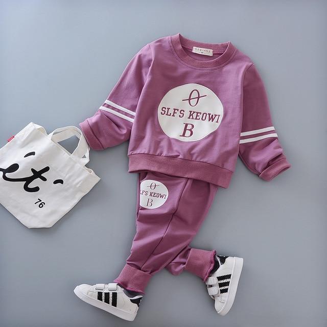 2017 осенью ребенок мальчик моды dress длинным рукавом блузка + брюки 2 компл. спортивной костюм детская одежда костюм новорожденных одежда для новорожденных