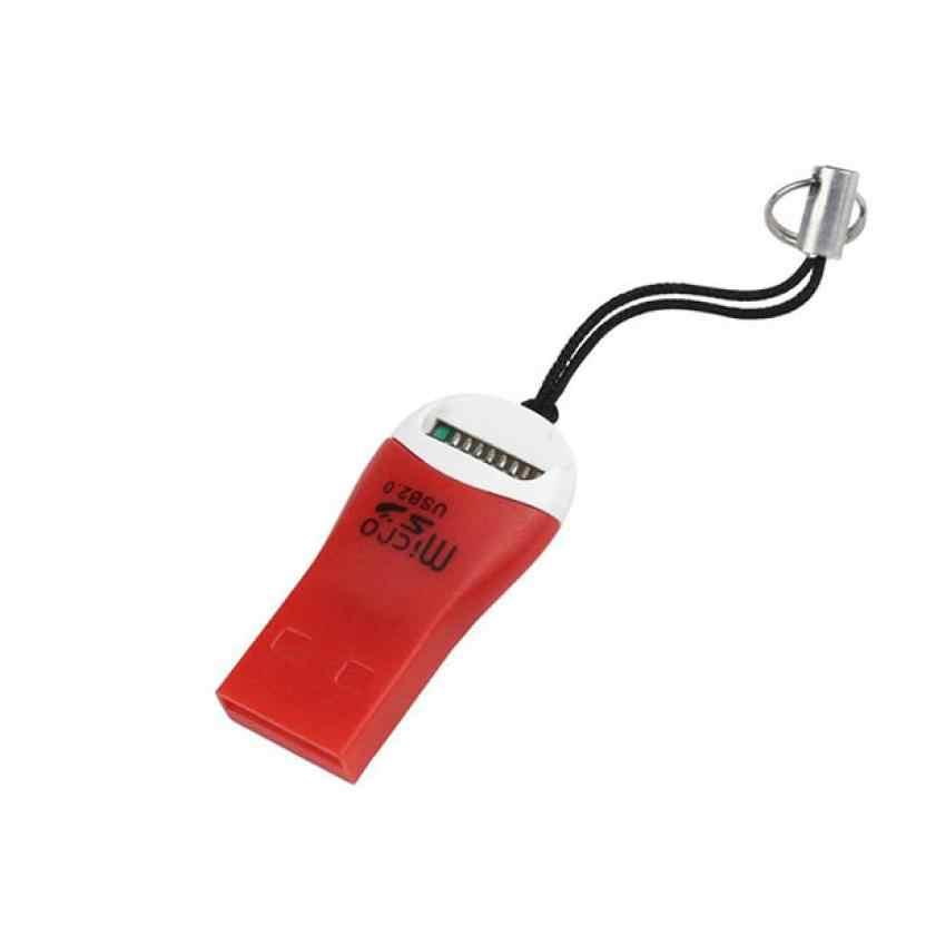 الساخن بيع Compuer قارئ بطاقات عالية السرعة USB 2.0 البسيطة مايكرو SD فلاش تي TF M2 الذاكرة قارئ بطاقات البسيطة محول ل محمول l0809 #3