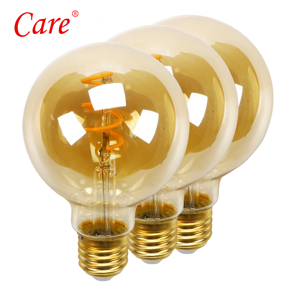 Care LED G80 Bubble Ball Filament Bulb 4w E27 2200k Golden Edison LED Light Bulbs luxurious LED Bulbs Lampada Ampoule Lighting