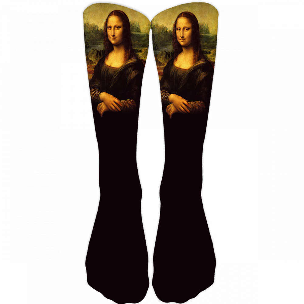 New Hot Men's Oil Painting Mona Lisa Socks Fashion Hipster Van Gogh Art Socks Women Funny Socks Long Cool Fashion Novel Socks 9Z