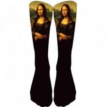New Hot Men's Oil Painting Mona Lisa Socks Fashion Hipster Van Gogh Art Socks Women Funny Socks Long Cool Fashion Novel Socks 9Z