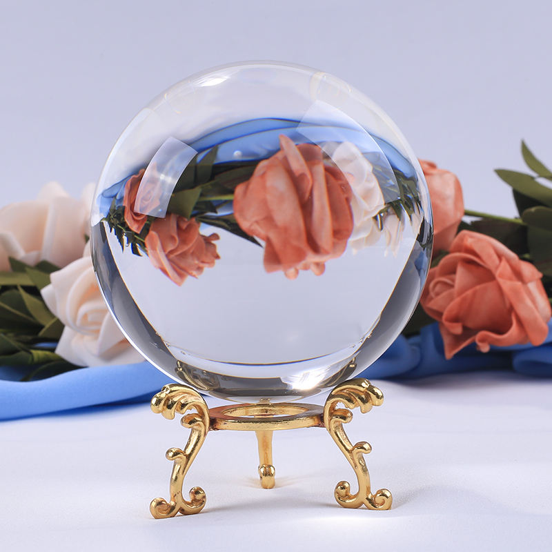 Photography Crystal Lens Ball Ornament FengShui Globe Divination Quartz Magic Glass Ball Home Decor For Drop Ship