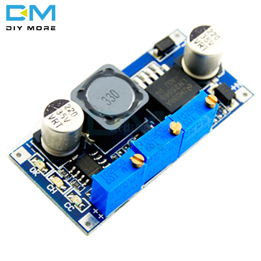 <font><b>LM2596</b></font> DC-DC Step-down Adjustable CC/CV Power Supply Module Converter LED Driver 4V 6V <font><b>12V</b></font> 14V 24V 3A image