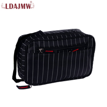 LDAJMW New Striped Men Travel Cosmetic Bag Waterproof Toiletry Necessaire Wash Organizer Storage Pouch