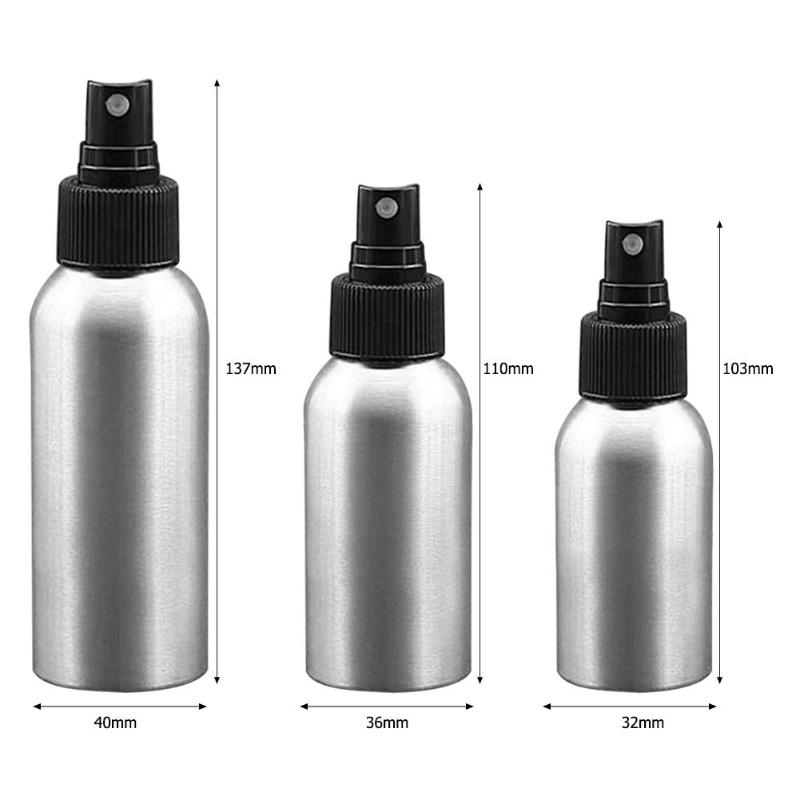 85617b9337c0 1pc 30/50/100ml Aluminium Spray Refillable Bottle Empty Bottles Travel Pump  Cosmetic Pack Empty Atomizer Packaging Tool - VolgoPoint