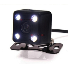 Night Vision CCD Parking Assistance System Universal 4 LED Car Rear View  Backup Camera Waterproof