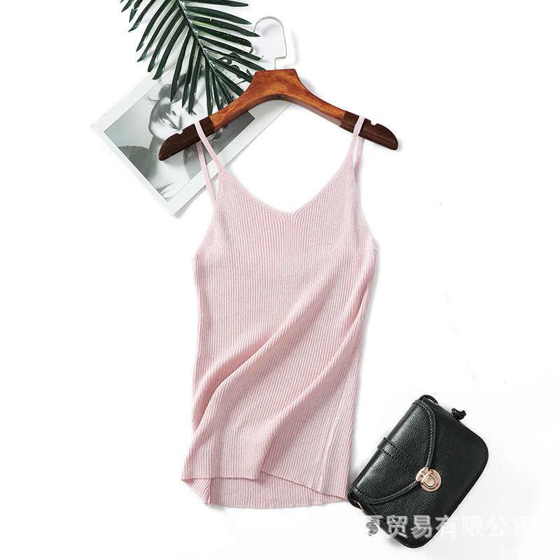 SIINGRAI Lurex camis kobiety 2019 seksowna dzianina podkoszulki brokat kamizelka lato kamizelka kobiety biały krótki top Fitness Femme Camisole