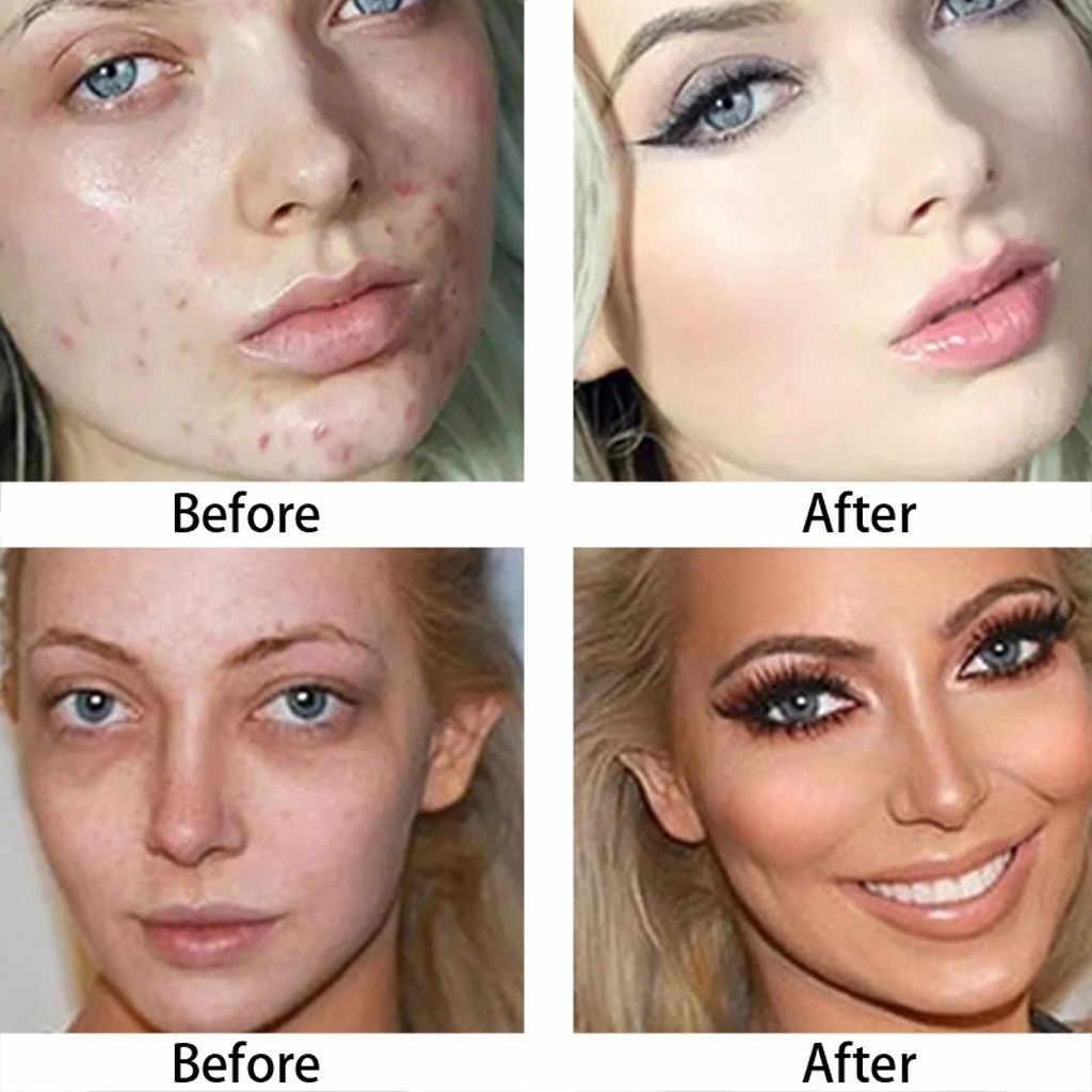 Pele cheia Natural Fundação Creme Corretivo Maquiagem Blemish Capa Mancha Escura ye Corretivo Contorno Do Rosto Corretivo Profissional # B