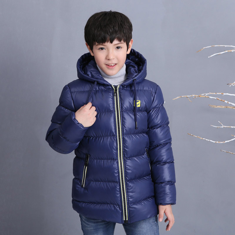 Children'S Clothing Boys Winter Jacket Cotton Padded Hooded Kids Outerwear Coat Waterproof Windproof Warm Boy Winter Coat boys winter jacket cotton padded fur collar hooded long kids outerwear coat thicken warm boy winter coat children clothing