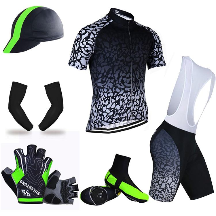 ФОТО Siilenyond Summer Big Cycling Set ! 2017 Cycling Jersey Set MTB Bicycle Clothing Racing Mans Bike Clothes Maillot Ropa Ciclismo