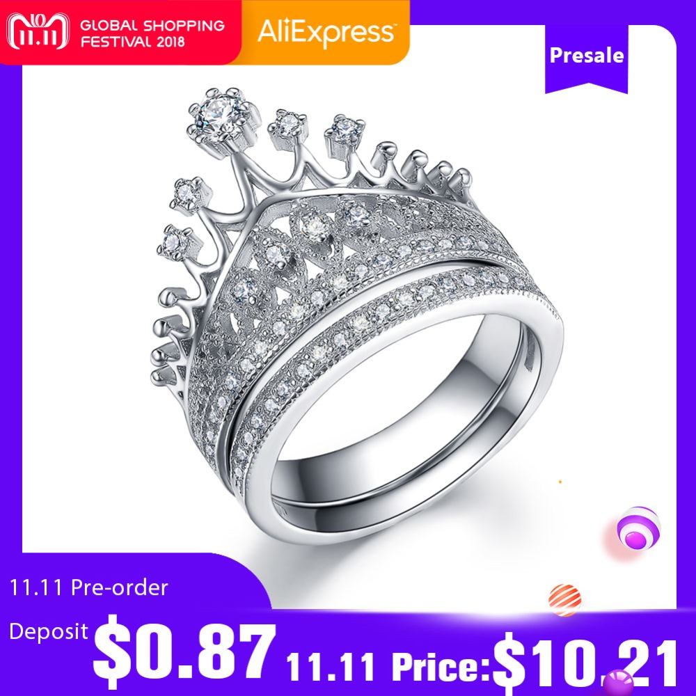 UMODE Luxury CZ Bridal Sets for Women 925 Sterling Silver Jewelry Crown Rings Anniversary Wedding Engagement Bague Femme ULR0336 vanaxin 925 sterling silver rings for men jewelry iced out cz crystal anel masculino joias engagement wedding rings bague homme