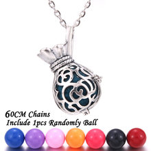 New Aromatherapy jewelry money bag Gourd Perfume Diffuser lockets Aroma Essential Oils Pendant Necklace Pregnant woman necklace(China)